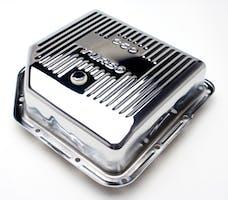 "Trans Dapt Performance 9198 TH350-CHROME Transmission Pan; Extra Capacity (+2 Qt); 3-1/2"" Depth; FINNED"
