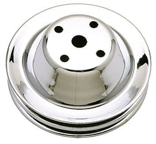 Trans Dapt Performance 9605 WATER PUMP Pulley; 2 Groove; 1969-1985 CHEVROLET 283-350; LONG Water Pump-CHROME