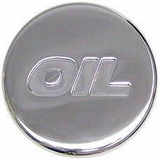 "Trans Dapt Performance 9787 PUSH-IN ""Style"" OIL CAP; 1-1/4"" hole; Rubber with CHROME Top- PLAIN"