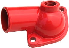Trans Dapt Performance 9930 Water Neck; SB and BB Chevy- Late Model (1/2 NPT port); O-Ring Seal-CHEVY ORANGE