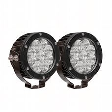WESTiN Automotive 09-12007A-PR HP LED Auxiliary Light 4.75 inch Round Spot w/3W Osram (Set of 2)