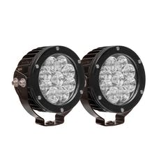 WESTiN Automotive 09-12007B-PR HP LED Auxiliary Light 4.75 inch Round Flood w/3W Osram (Set of 2)