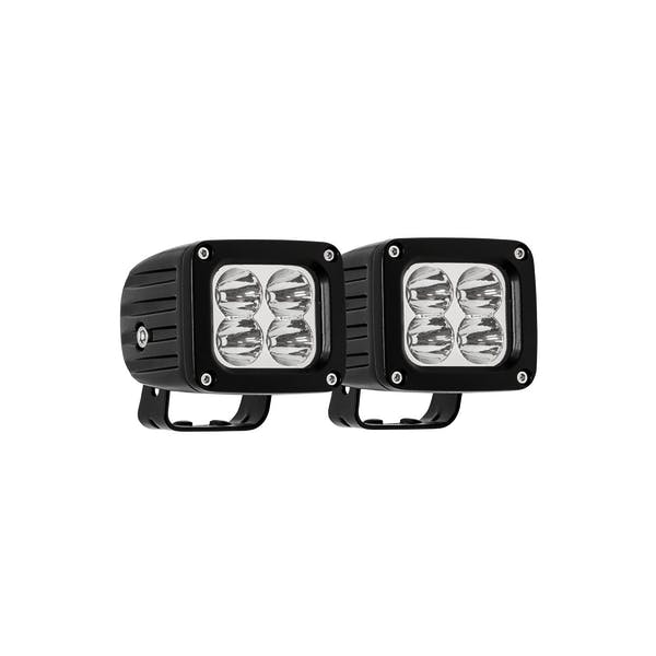 WESTiN Automotive 09-12252B-PR XP LED Auxiliary Light 3 In. x 2.5 In. Flood w/5W Cree (Set of 2)