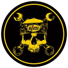ACCEL 74839G DECAL;ACCEL SKULL 6 INCH ROUND