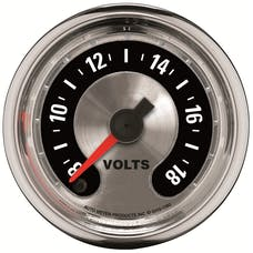 """AutoMeter Products 1282 2-1/16"""" Voltmeter, 8-18V FSE, American Muscle"""