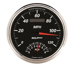 AutoMeter Products 1291 GAUGE; TACH/SPEEDO; 5in.; 120MPH/8K RPM; ELEC. PROGRAM; DESIGNER BLACK II