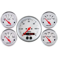 "AutoMeter Products 1350 Arctic White 5 PC Kit, 3-3/8"" GPS Speedo"