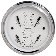 AutoMeter Products 1612 Quad Gauge  Old Tyme White