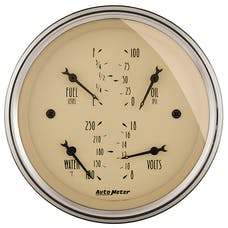 AutoMeter Products 1814 Gauge; Quad; 3 3/8in.; 0OE-90OF; Elec; Antique Beige