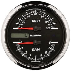 "AutoMeter Products 19466 Tachometer/Speedometer Gauge, Black-Pro Cycle 4 1/2"", 8K RPM/120 MPH"