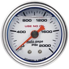 """AutoMeter Products 2183 Pressure Gauge, 1.5"""" Direct Mount, 2,000Psi"""