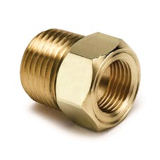 AutoMeter Products 2264 FITTING; ADAPTER; 1/2in. NPT MALE; BRASS; FOR MECH.TEMP. GAUGE