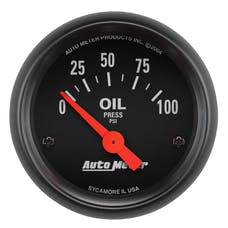 AutoMeter Products 2634 GAUGE; OIL PRESSURE; 2 1/16in.; 100PSI; ELECTRIC; Z-SERIES