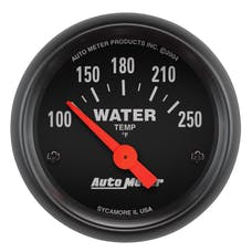 AutoMeter Products 2635 Gauge; Water Temp; 2 1/16in.; 100-250deg.F; Electric; Z-Series