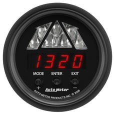 AutoMeter Products 2676 Shift Light Gauge; Digital RPM with Amber LED Light