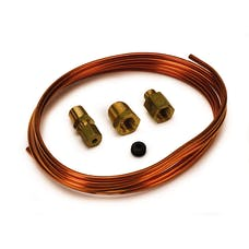 AutoMeter Products 3224 TUBING; COPPER; 1/8in.; 6FT. LENGTH; INCL. 1/8in. NPTF BRASS COMPRESSION FITTING