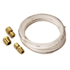 AutoMeter Products 3226 TUBING; NYLON; 1/8in.; 12FT. LENGTH; INCL. 1/8in. NPTF BRASS COMPRESSION FITTING