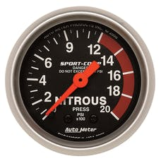 AutoMeter Products 3328 Gauge; Nitrous Pressure; 2 1/16in.; 2000psi; Mechanical; Sport-Comp