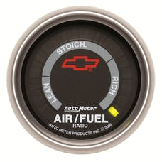 """AutoMeter Products 3675-00406 2-1/16"""" Air/Fuel Ratio Full Sweep Elec, GM Red Bowtie"""