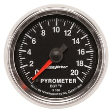 AutoMeter Products 3845 Gauge; Pyrometer (EGT); 2 1/16in.; 2000deg.F; Digital Stepper Motor; GS