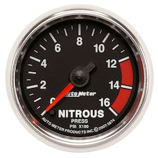 AutoMeter Products 3874 Gauge; Nitrous Pressure; 2 1/16in.; 1600psi; Digital Stepper Motor; GS
