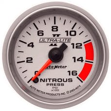AutoMeter Products 4974 Gauge; Nitrous Pressure; 2 1/16in.; 1600psi; Digital Stepper Motor; Ultra-Lite I