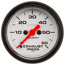 "AutoMeter Products 5792 2-1/16"" Exhaust Pressure 0-60 psi, FSE, Phantom"