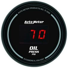 AutoMeter Products 6327 2-1/16in Oil Press, 0-100 PSI -  Digital  Black