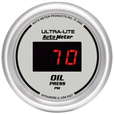 AutoMeter Products 6527 2-1/16in Oil Press, 0-100 PSI - Digital Silver
