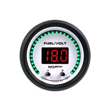 "AutoMeter Products 6709-PH Gauge, Fuel/Volt, 2 1/16"" Two Channel, Selectable, Phantom Elite Digital"