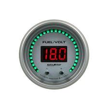 "AutoMeter Products 6709-UL Gauge, Fuel/Volt, 2 1/16"" Two Channel, Selectable, Ultra-Lite Elite Digital"