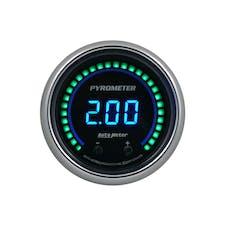 "AutoMeter Products 6744-CB Gauge, Pyrometer, 2 1/16"", Two Channel, Selectable, Cobalt Elite Digital"