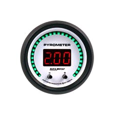 "AutoMeter Products 6744-PH Gauge, Pyrometer, 2 1/16"", Two Channel, Selectable, Phantom Elite Digital"