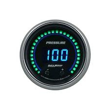 "AutoMeter Products 6752-CB Gauge, Pressure, 2 1/16"", Two Channel, Selectable, Cobalt Elite Digital"