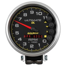 AutoMeter Products 6897 GAUGE; TACH; 5in.; 11K RPM; PEDESTAL; DATALOGGING; ULTIMATE DL PLAYBACK; BLACK