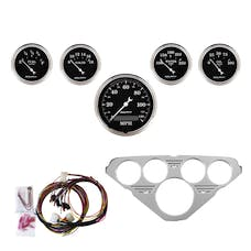 AutoMeter Products 7036-OTB 5 Gauge Direct-Fit Dash Kit, Old Tyme Black