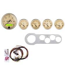 AutoMeter Products 7042-AB 5 Gauge Direct-Fit Dash Kit, Antique Beige