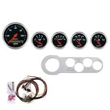 AutoMeter Products 7042-DB 5 Gauge Direct-Fit Dash Kit, Designer Black