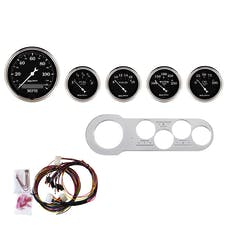 AutoMeter Products 7042-OTB 5 Gauge Direct-Fit Dash Kit, Old Tyme Black