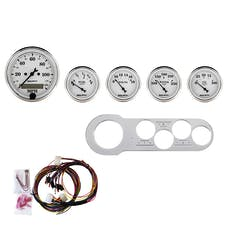 AutoMeter Products 7042-OTW 5 Gauge Direct-Fit Dash Kit, Old Tyme White