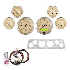 AutoMeter Products 7043-AB 6 Gauge Direct-Fit Dash Kit, Antique Beige