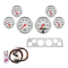 AutoMeter Products 7043-AW 6 Gauge Direct-Fit Dash Kit, Arctic White