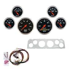 AutoMeter Products 7043-DB 6 Gauge Direct-Fit Dash Kit, Designer Black