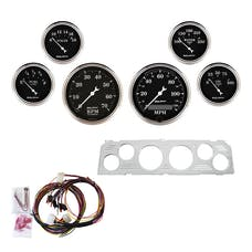 AutoMeter Products 7043-OTB 6 Gauge Direct-Fit Dash Kit, Old Tyme Black