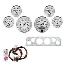 AutoMeter Products 7043-OTW 6 Gauge Direct-Fit Dash Kit, Old Tyme White