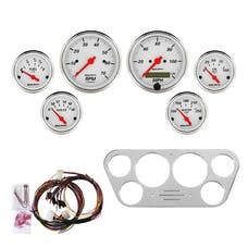 AutoMeter Products 7048-AW 6 Gauge Direct-Fit Dash Kit, Arctic White
