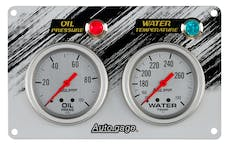 AutoMeter Products 7065 Mechanical Race Panel Oil Pressure/Water Temperature 2 5/8in. 0-100 psi 140-280