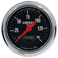 "AutoMeter Products 880792 Air Locker Pressure Gauge 2 1/16"", 150PSI Mechanical, Jeep"