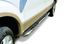 "Big Country Truck Accessories 379693 3"" Round classic side bars. Cab length. Triple nickel chrome"