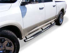 "Big Country Truck Accessories 39420366 4"" + 15 Degree Cab-Length Side Bars with Welded End Caps"